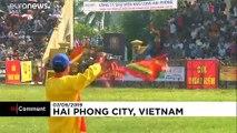 Bataille de buffles au Vietnam