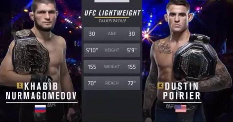 Khabib Nurmagomedov vs Dustin Poirier Full Fight Video 07.09.2019