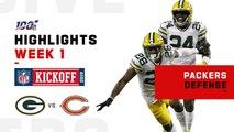 Packers Defense Stops Bears w- 5 Sacks & 1 INT [NFL 2019 Highlights]