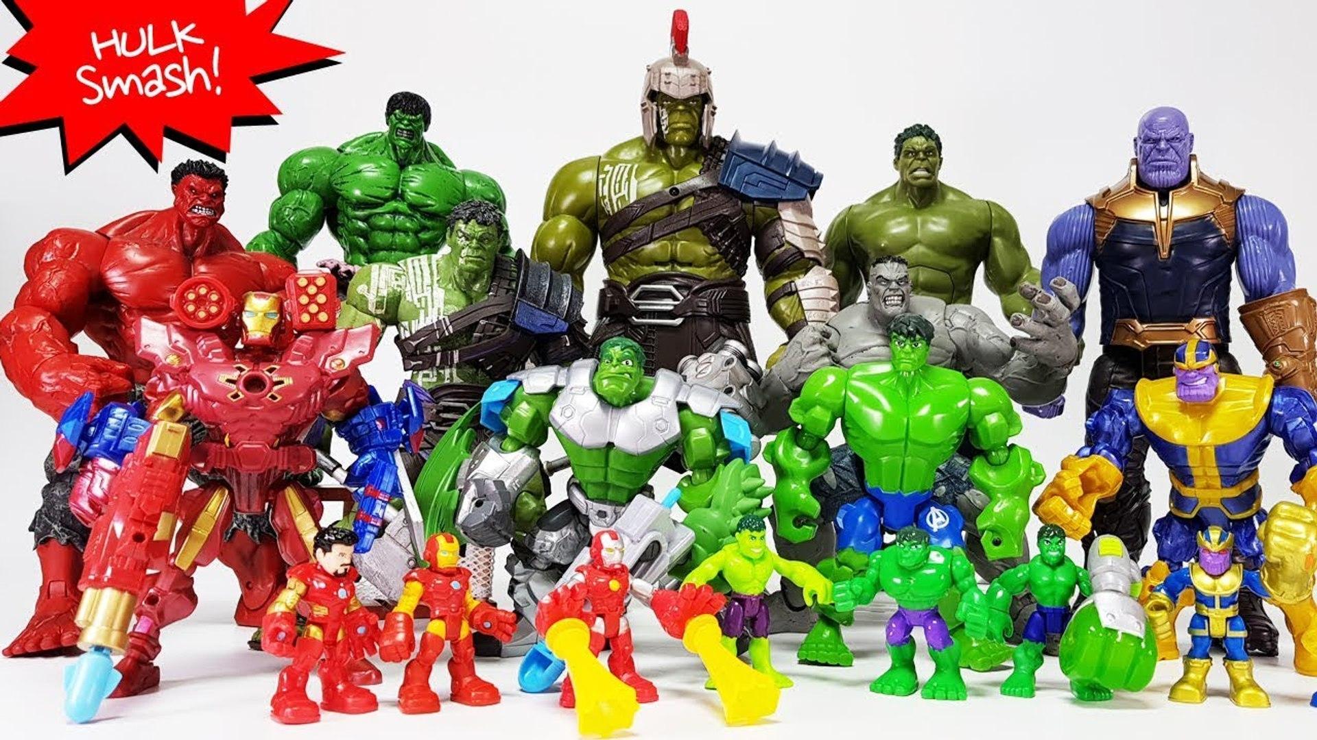 Go Avengers Power-up Hulk, Iron man~- Infinity War Thanos Gauntlet Battle  Toys Play
