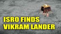 ISRO spots Vikram Lander on lunar surface, orbiter captures image | Oneindia News