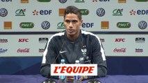 Varane « Les jeunes n'ont pas froid aux yeux » - Foot - Qualif. Euro - Bleus