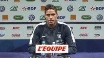 Varane «J'ai eu de la réussite» - Foot - Qualif. Euro - Bleus