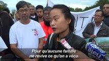 Lâcher de colombes en souvenir de Sophie Le Tan, étudiante disparue il y a un an