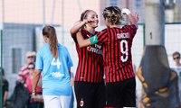Le rossonere vincono ancora: 5-0 al Napoli