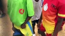 Célébration du 2ème trophées remporté au stade du stade Marion de la cité sic de Douala Cameroun