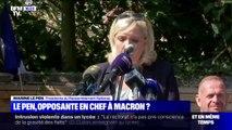 """Marine Le Pen: """"L'histoire retiendra que la pire faute d'Emmanuel Macron sera d'avoir lancé les Français les uns contre les autres"""""""