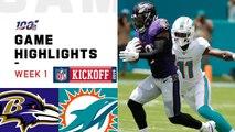 Ravens vs. Dolphins Week 1 Highlights - NFL 2019