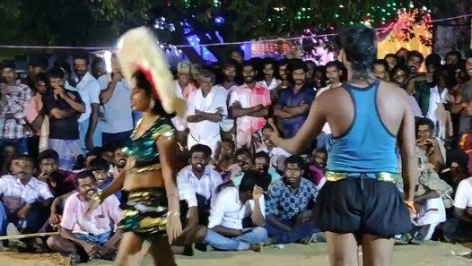 hot latest karakattam dance in tamil village kovil