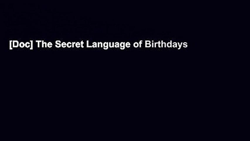 [Doc] The Secret Language of Birthdays
