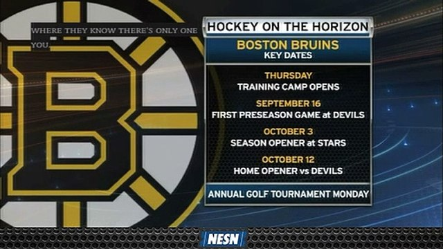The Boston Bruins Have Some Key Dats Coming Up, Including Their Season Opener.