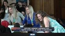 U.S. Women's Hockey Gold Medalists Promote Women's Hockey In Dorchester