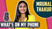 What's On My Phone With SUPER 30 Star Mrunal Thakur   Hottest Picture, Last Whatsapp Message