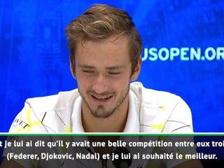 """US Open - Medvedev :  """"J'ai souhaité le meilleur à Nadal"""""""