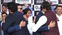 Abhishek Bachchan & Amitabh Bachchan hug Vivek Oberoi during event; Watch video | FilmiBeat