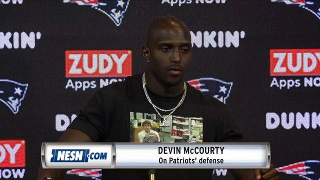 Devin McCourty Patriots Vs. Steelers Postgaame