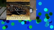 About For Books  What to Listen For in Music (Signet Classics)  For Free