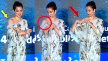 OOPs !Kangana Ranaut EMB@RRASSING Moment In Front Of Media @Isha Foundation Cauvery Calling