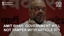 Amit Shah: Article 370 Was A Temporary Arrangement