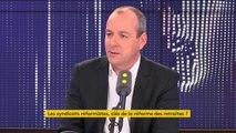 """""""On défend un réforme systémique des retraites"""" explique Laurent Berger"""