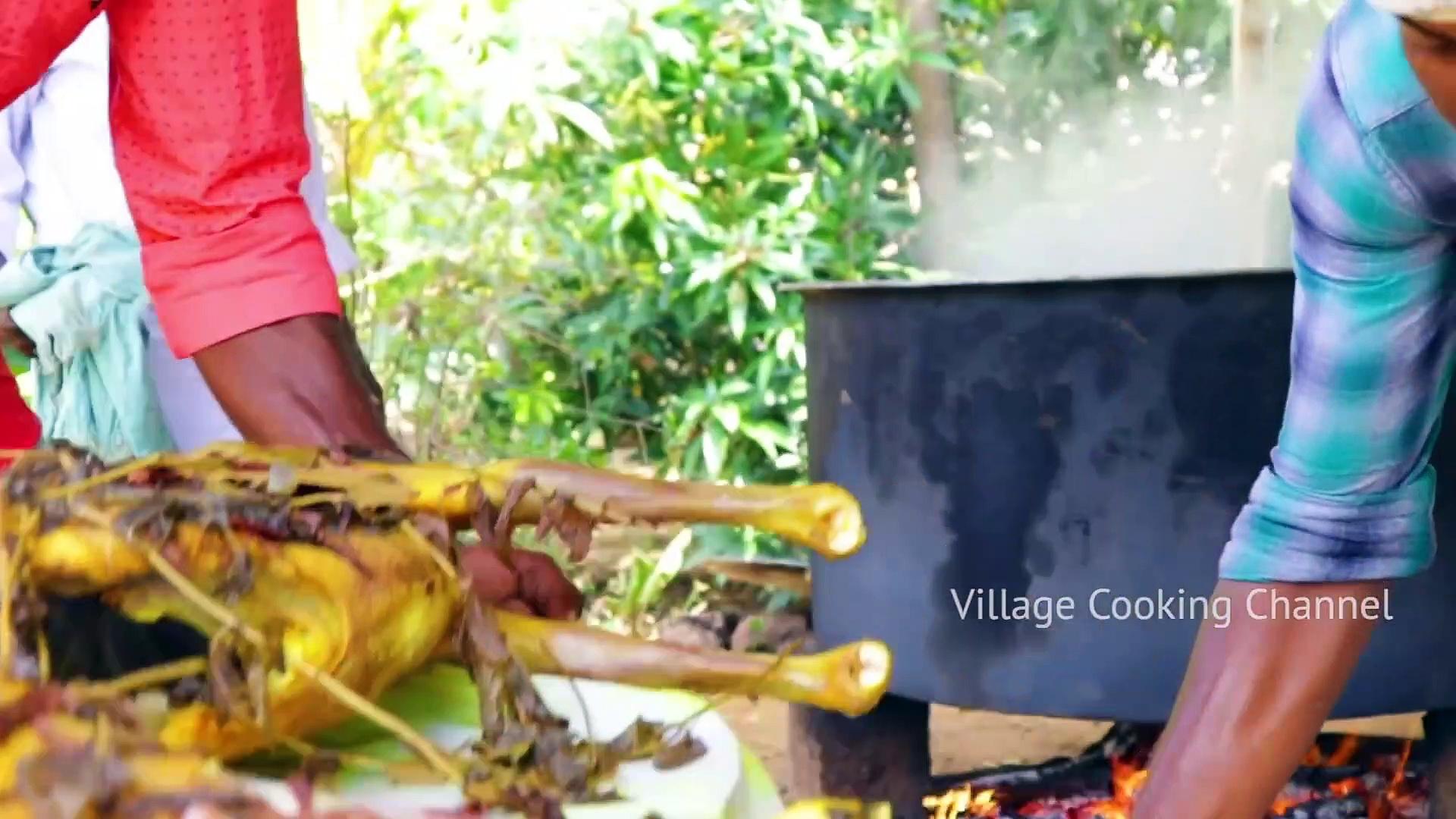 MUTTON BIRYANI – 2 FULL GOAT Biryani recipe cooking and eating in village – Arabic Full Goat Cooking