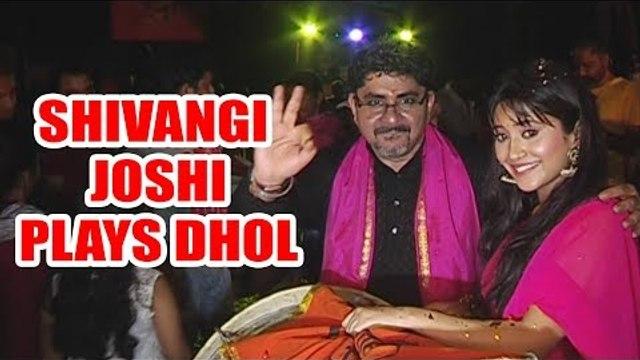 Yeh Rishta Kya Kehlata Hai: Shivangi Joshi plays Dhol at Ganpati Visarjan
