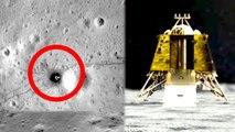 Vikram Lander lying on the lunar surface after a hard-landing.