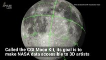 NASA Releases Trippy CGI Animation of the Moon