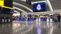 Heathrow terminal nearly deserted as BA pilots begin strike
