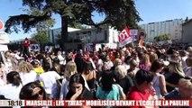 Agression à l'arme blanche à La Pauline à Marseille : les syndicats manifestent devant l'école