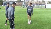 La tehnique incroyable de Malik Bentalha devant le but