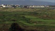 Prince Andrew plays golf at Royal Portrush