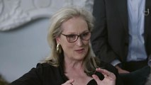 "Meryl Streep Talks ""Funny Yet Deadly Serious"" New Film 'The Laundromat'"