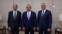 Dışişleri Bakanı Çavuşoğlu, mevkidaşı Özersay'la görüştü