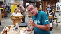 Teaching Wood Carving in Person at Mark Adams School of Wood Woodworking