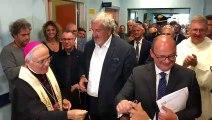 Inaugurazione Hospice Minervino Murge - intervista a Michele Emiliano