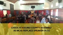 Chaos at Kisumu county assembly as MCAs replace Speaker Oloo