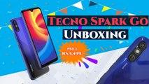 Tecno Spark Go Unboxing: HD+ Dot Notch Display, MediaTek Helio 22 Processor, 3000mAh Battery
