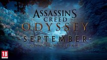 Assassin's Creed Odyssey - Mise à jour du mois de septembre
