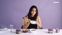 Watch Camila Mendes Taste Test Acai Bowls | Food Fight