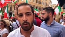 A Rome, l'extrême droite mobilisée face à Giuseppe Conte
