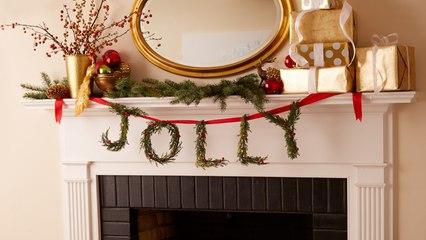 How to Make a Jolly Wreath Garland