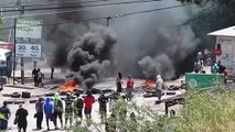 Police clash with protesters in Honduras