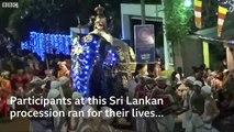 Sri-Lanka: Découvrez les images impressionnantes d'un éléphant qui devient fou et qui fonce dans la foule lors d'une parade