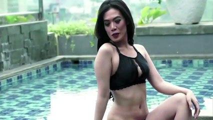 SHERLYNE di Behind the Scenes Photoshoot - Male Indonesia - Model Bikini