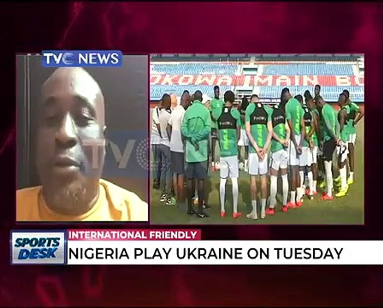 Nigeria Super Eagles to play Int'l friendly with Ukraine on today