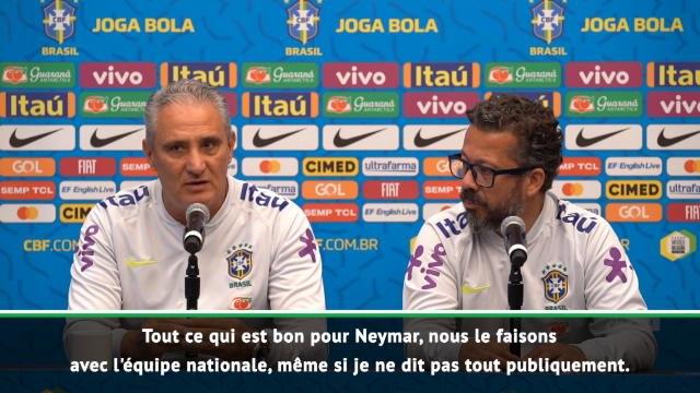 """Brésil - Tite : """"Mettre Neymar dans les meilleures conditions possibles"""""""