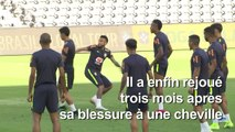 Retour réussi pour Neymar avec le Brésil