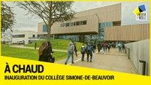 Inauguration du collège Simone-de-Beauvoir à Vandoeuvre-lès-Nancy