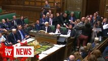 Protesting lawmakers pushed away during UK Parliament suspension